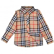 Boys Long Sleeve Plaid Casual Shirt