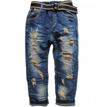 Boys Navy Blue Straight Fit Jeans