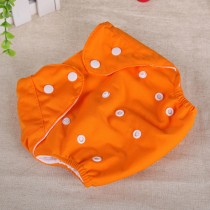 Button Pattern Adjustable Infant Baby Diapers
