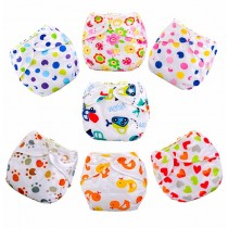 Cartoon Print Washable Infant Baby Diapers