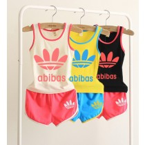 Casual Cotton Children Sleeveless Tracksuits