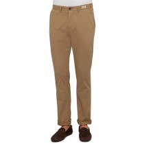 Coffee Cotton Twill Casual Trouser