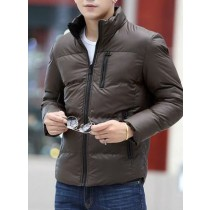 Coffee Cotton Warm Long Sleeves Jacket