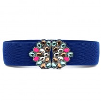 Colorful Rhinestone PU Leather Stretch Belts