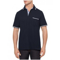 Cotton Navy Blue Short Sleeve Polo Tshirt