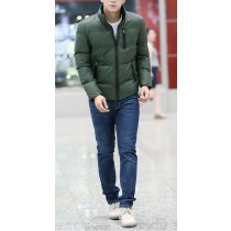 Cotton Warm Long Sleeves Green Jacket