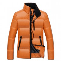 Cotton Warm Long Sleeves Orange Jacket