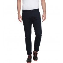 Dark Blue Colored Slim Fit Casual Trouser