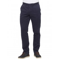 Dark Blue Cotton Twill Casual Trouser