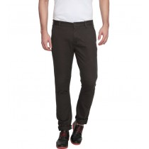 Dark Grey Colored Slim Fit Casual Trouser