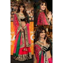 Dark Pink Heavy Embroidered Lehenga Choli