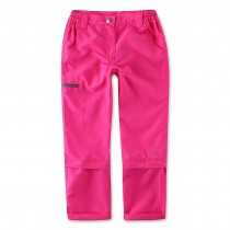 Dark Pink Waterproof Outdoor Girl Trousers