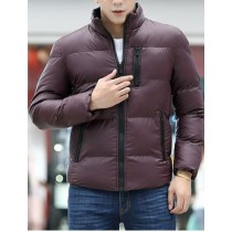 Dark Purple Cotton Warm Long Sleeves Jacket