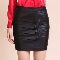 Designer Womens Black Pencil Skirt
