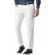 Durable Cotton Twill White Casual Trouser