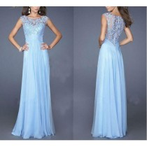 Elegant Chiffon Lace Women Party Dresses1