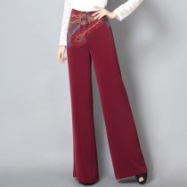 Elegant Wide Leg Slim Waisted Trousers