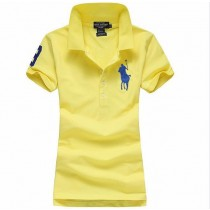 Embroidery Slim Short Sleeve Women Polo