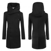 Fashionable Black Long Slim Fit Jacket