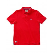 Flame Red Cotton Blend Classic Polo Tshirt