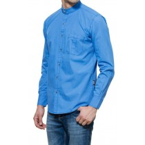 Full Sleeves Casual Cotton Blue Regular Fit Shirt