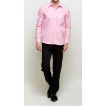 Full Sleeves Pink Regular Fit Formal Shirt