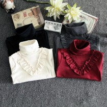 Girl Cotton Turtleneck Bottom Shirts