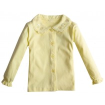 Girls Cotton Long-sleeve Casual Shirts