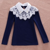 Girls Cotton Long Sleeve Formal Shirts