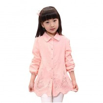 Girls Full Sleeve Turn-down Collar Casual Shirts
