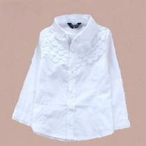 Girls Long Sleeve Cotton Formal Shirts