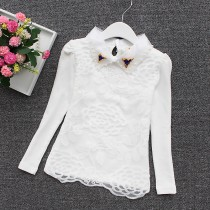 Girls New Style Floral Lace Formal Shirts