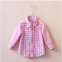 Girls Plaid Full Sleeve Casual Shirts