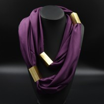 Gold Plated Long Soft Women Scarves