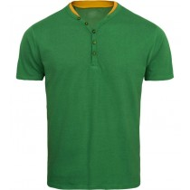 Green Solid Half Sleeves Tshirt