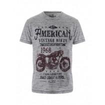 Grey Stylish Graphic Printed Tshirt