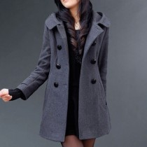 Grey Women Casual Fashion Long Jacket3