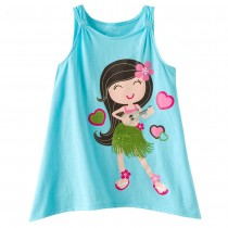 High Quality 100% Cotton Girl Printed Tshirts
