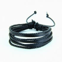 High Quality Black multilayer Leather Bracelet