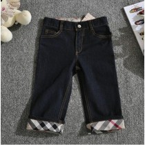 High Quality Black Plaid Pattern Boy Trouser