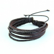 High Quality Brown Multilayer Leather Bracelet