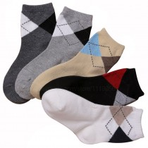 High Quality Diamond Pattern Boy Socks