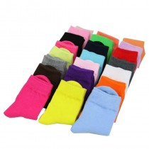 High Quality Girls Candy Color Cotton Socks