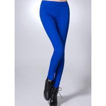High Waist Elastic Cotton Casual Trousers
