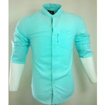 Casual Cotton Aqua Blue Stripes Shirt