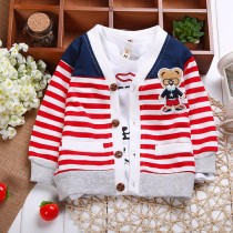 Infant Baby Boy Girls Casual Striped Sweaters