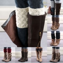 knitted Leg Warmers Women Boot Socks