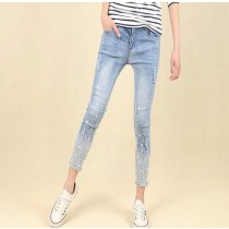 Latest Skinny Fit Sky Blue Women Jeans