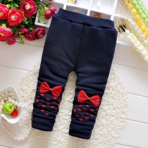 Latest Thick Elastic Waist Winter Girl Trousers