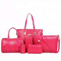 Latest Womens PU Leather Handbags(6 PSC in 1 Set)